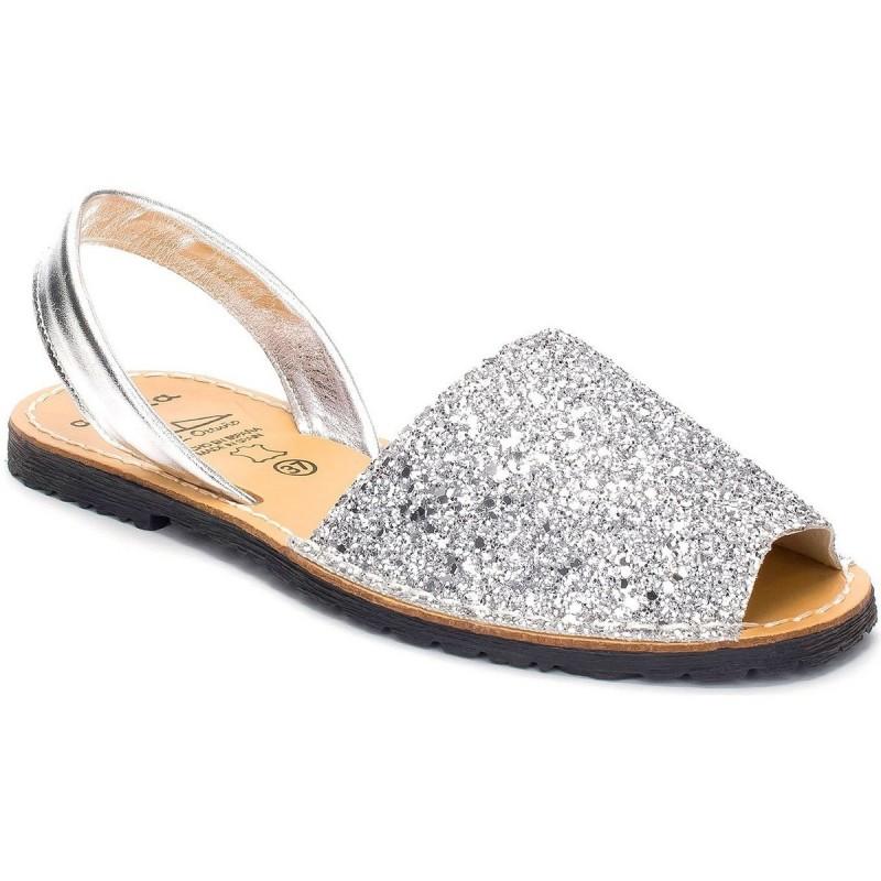 Menorquina Glitter Plata