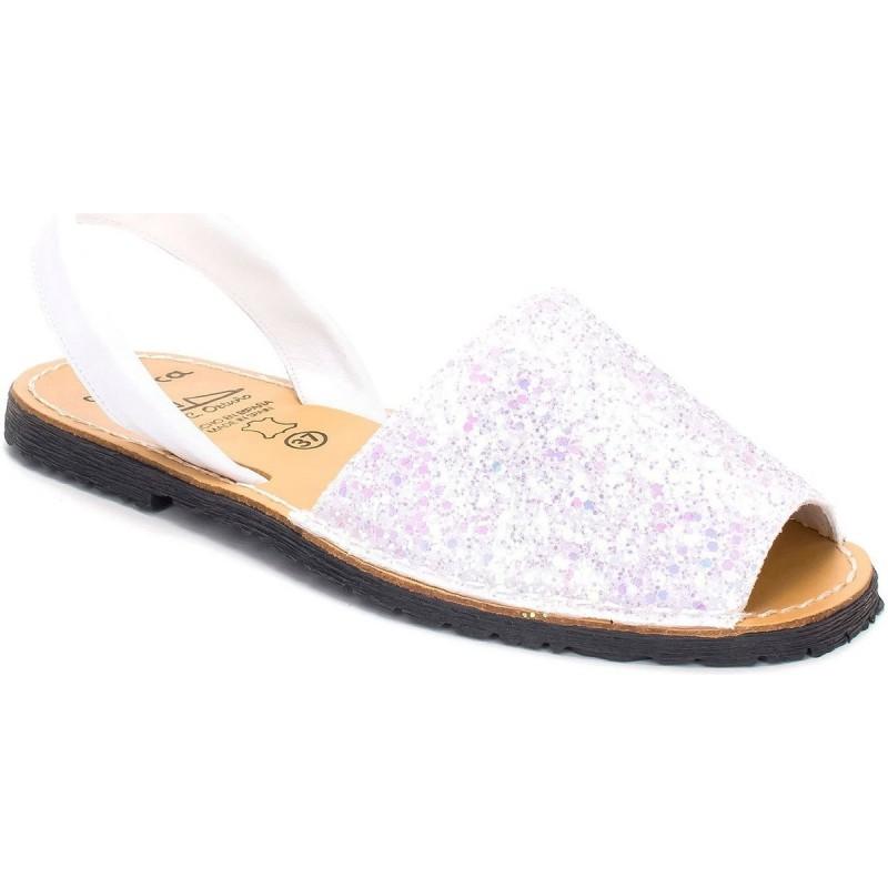 Menorquina Glitter Blanco