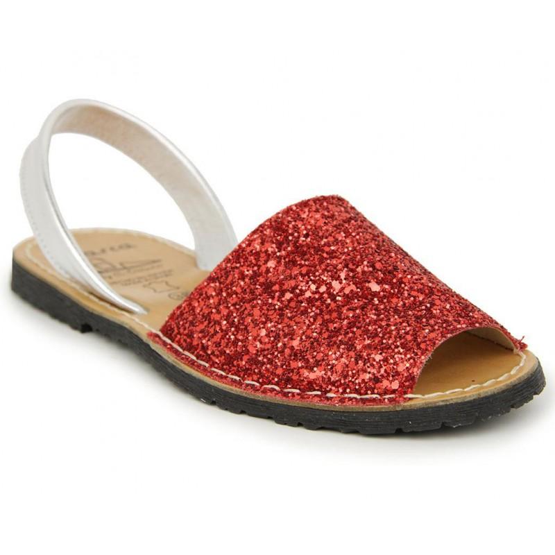 Menorquina Glitter Rojo