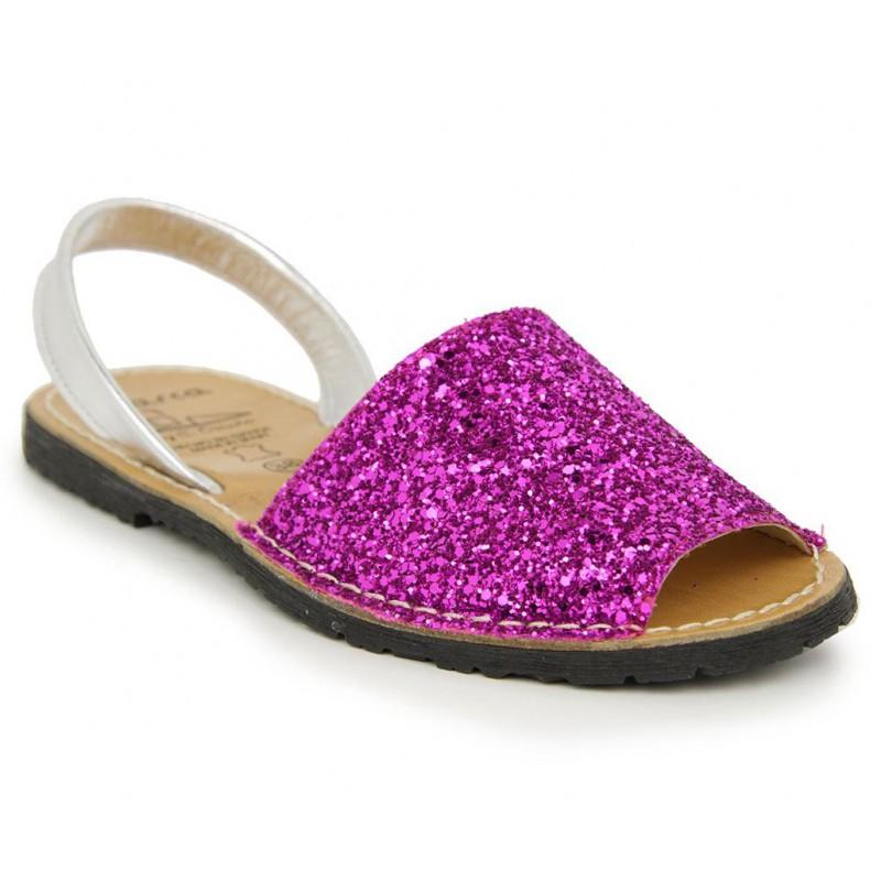 Menorquina Glitter Fuxia