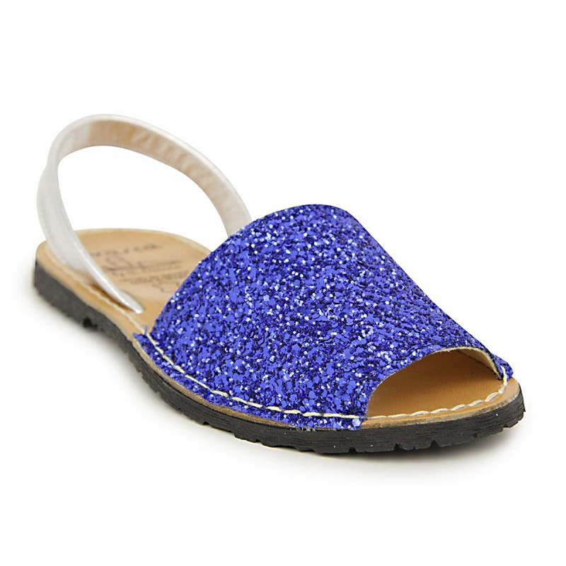 Menorquina Glitter Azul